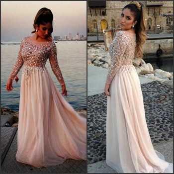 Aliexpress.com : Buy New Arrivals Backless Long Sleeve Lace Prom Dresses Dark Red Beaded Zuhair Murad Evening Dresses Free Shipping BO2172 from Reliable dresses fashion suppliers on 27 Dress