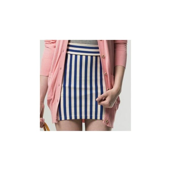 Striped Pencil Skirt - Life 8 - Polyvore