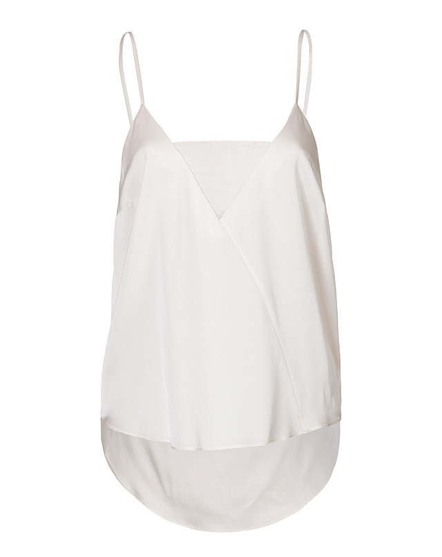 Asymmetric Hem Silk Tank from BY MALENE BIRGER | Luxury fashion online | STYLEBOP.com