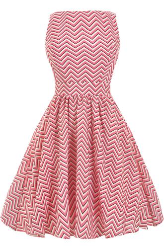 dress teadress skaterdress pink dress