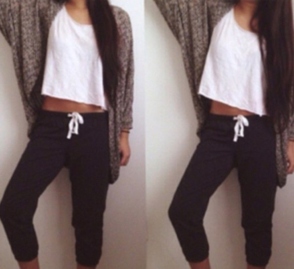 jacket white top cute comfy lazy sweatpants oversized cardigan