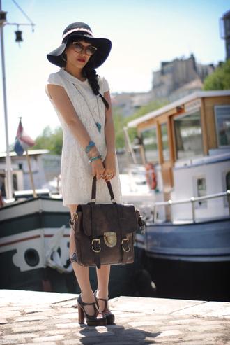 leeloo white dress bag dress