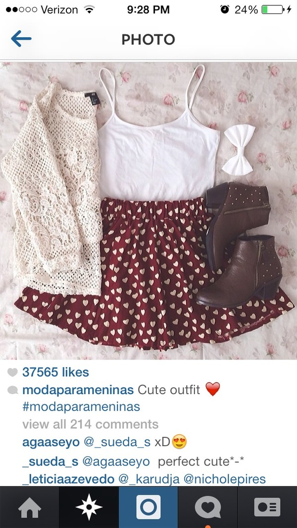 dress blouse skirt heart skirt shirt indie sweater cardigan shoes top hair accessory