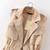 Khaki Lapel Drawstring Waist Epaulet Vest -SheIn(Sheinside)