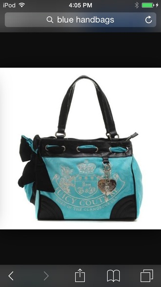 bag light blue juicy couture purse