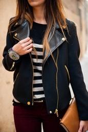 jacket,leather,black,navy