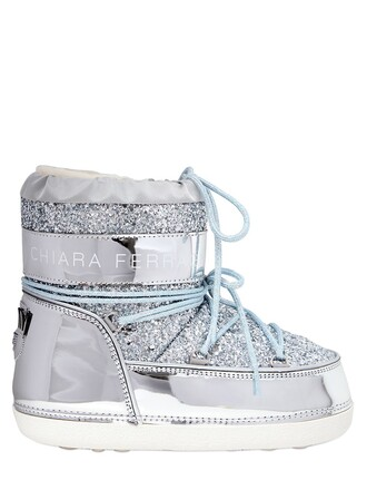 snow boots glitter snow boots silver shoes