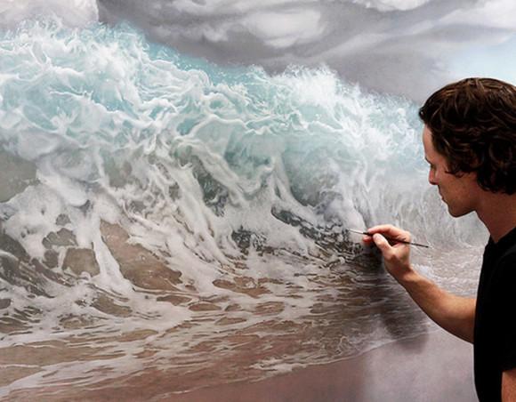 waves beach dress wave ocean wave painting wave paint wave picture wave art ocean painting ocean paint ocean art beach picture beach painting beach paint beach art ocean blue