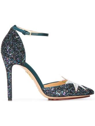 princess pumps blue shoes