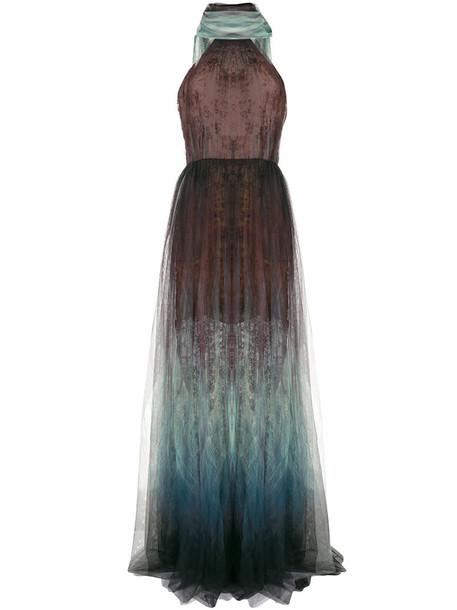 Elie Saab gown women silk dress