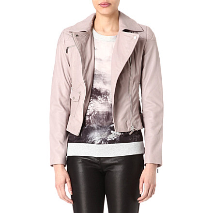 KAREN MILLEN - Signature leather biker jacket | Selfridges.com