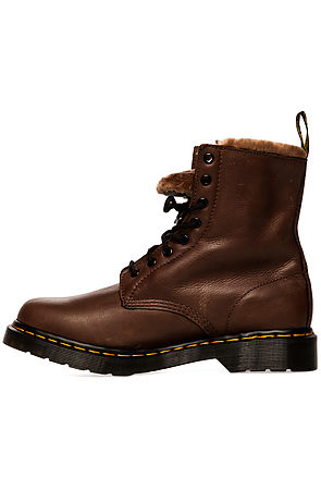 Dr. Martens Boot The Serena with Faux Fur Lining in Brown -  Karmaloop.com