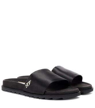 satin black shoes