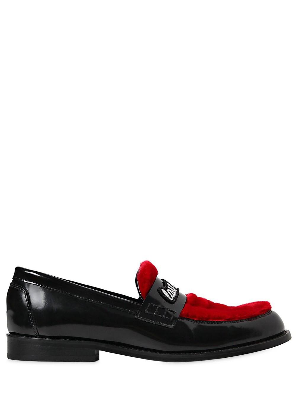 JOSHUA SANDERS 20mm Last Dance Leather Loafers in black / red