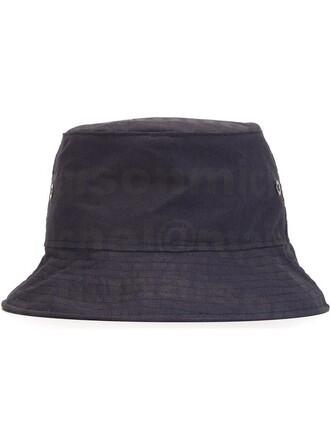 hat bucket hat print blue