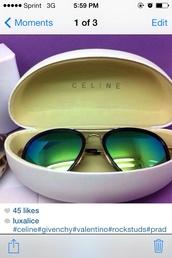 sunglasses,celine,glasses,green,shades,sunnies