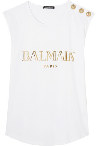 top embellished cotton white