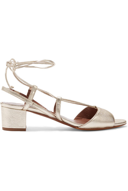 tabitha simmons metallic sandals leather sandals leather gold shoes