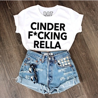 t-shirt cinderella shirt shorts cinderella