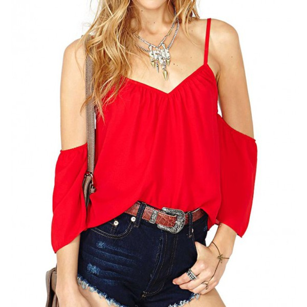 top red top summer top short bag accessories swag