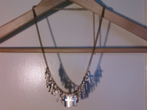 shopwithasianstereotypes: Multi Cross Necklace (long chain adjustable)