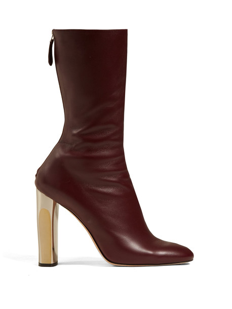 leather ankle boots ankle boots leather burgundy shoes