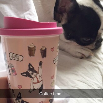 home accessory yeah bunny pink coffee frenchie mug tumbler dog