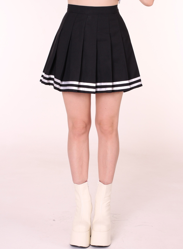 Glitters For Dinner — MADE TO ORDER - Black Cheerleading Skirt