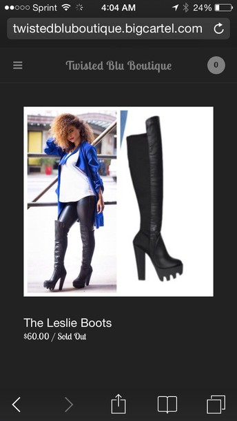 5d3e15ca3 shoes, black boots, lug sole, thigh high boots, over the knee boots ...