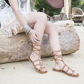 shoes,sandals,gladiators,lace-up shoes,beaded,coachella,boho,spring,summer,desert,qupid