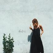 dress,mila maxi,maxi,maxi dress,black dress,long black dress,black maxi,black maxi dress,boho,bohemian,los angeles,dress with pockets,pockets,adjustable straps,long dress,lovestitch