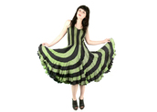 dress,vintage,stripes,fit and flair,grunge,goth,seapunk,90s style,70s style,dance,disco,boho,hipster,hippie,green