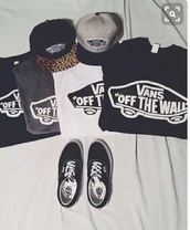 shirt,vans,printed vans,t-shirt