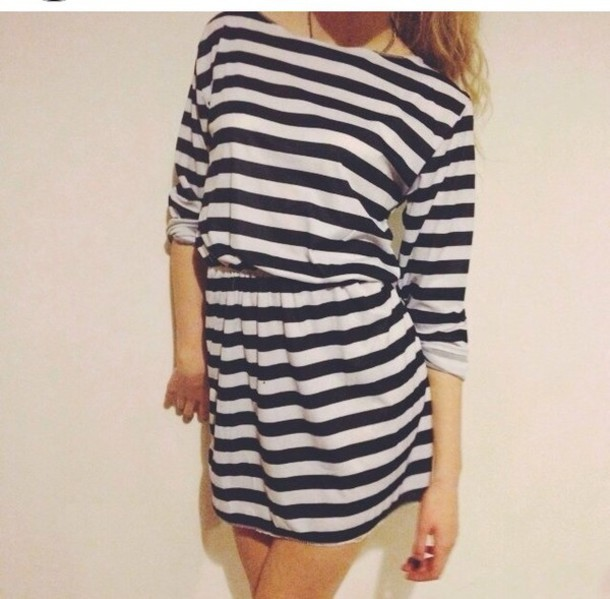 dress stripey stripes stripes t.shirt dress