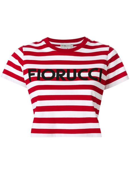 FIORUCCI t-shirt shirt cropped t-shirt t-shirt cropped women cotton red top