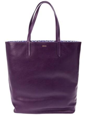 open purple pink bag