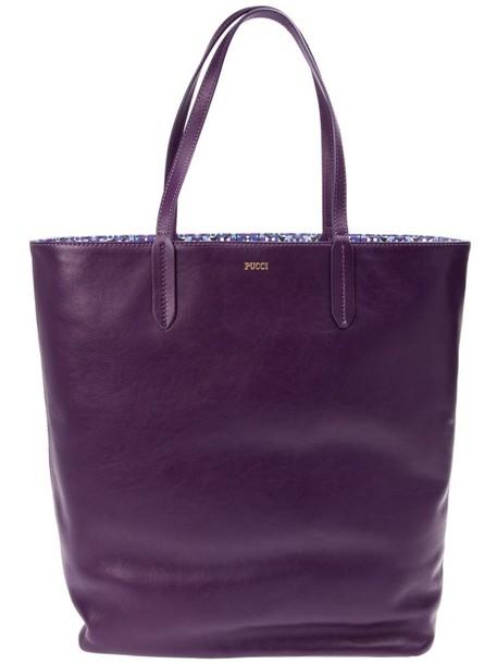 Emilio Pucci open purple pink bag