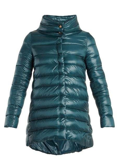Herno jacket down jacket quilted blue