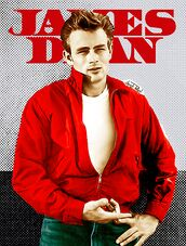 jacket,james dean,windbreaker,wind jacket,red jacket,50s style