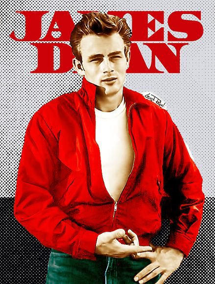 jacket red jacket james dean windbreaker wind jacket 50's
