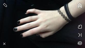 jewels black dark bracelets