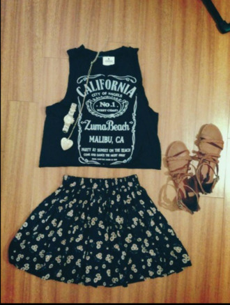 shirt california crop tops top jack daniels style hipster black