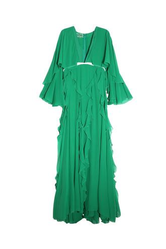 gown green dress