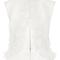 Jewel neck ruffle front vest by oscar de la renta | moda operandi