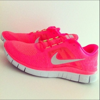best website 0c56f 9615d nike free run 3 hot punch neon pink orange coral