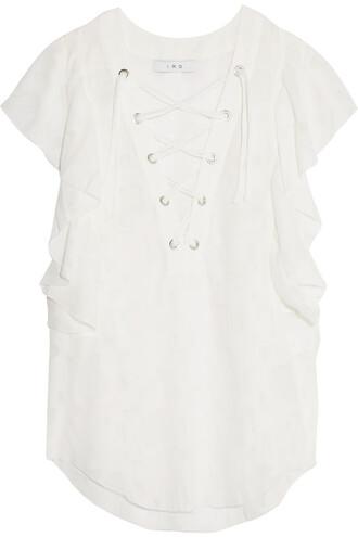 blouse chiffon blouse chiffon lace white top