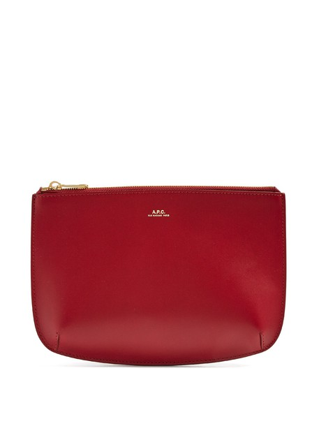 A.P.C. pouch leather burgundy bag