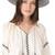 Janessa Leone Joanna Short Brimmed Panama Hat - Black