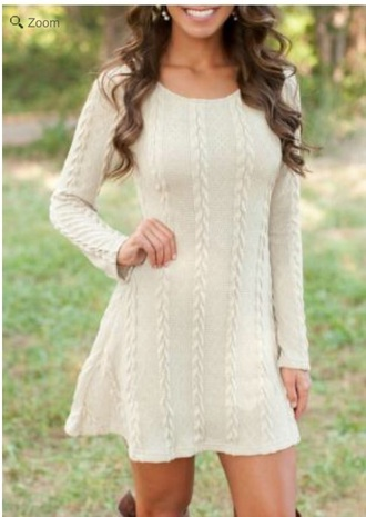 dress white knit sweater mini skater dress cream dress white dress sweater dress