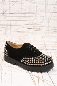 shoes vintage blogger plateau sneaker high hipster nieten studded studs black gold peep toe